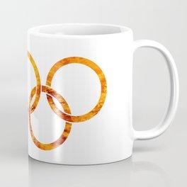 Flaming Olympic Rings Coffee Mug