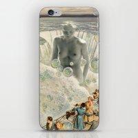 bath iPhone & iPod Skins featuring THE BATH by Julia Lillard Art