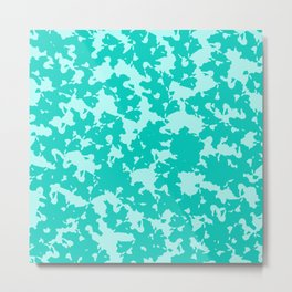 Blue Green Abstract Metal Print