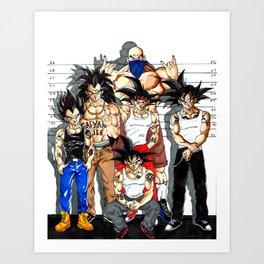 saiyan thugs Art Print
