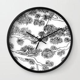 Japanese Inspired Trees Wall Clock