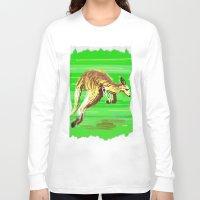 kangaroo Long Sleeve T-shirts featuring Kangaroo by wingnang