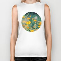 aperture Biker Tanks featuring Orange Cosmos by Laura Ruth