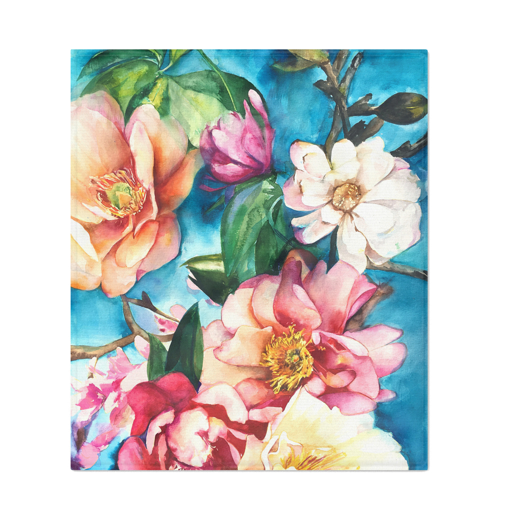 Tropical_Floral_I_Throw_Blanket_by_maiautumndesign