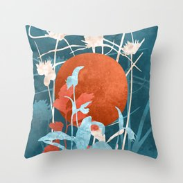 Wildflower Garden #art print#societ6 Throw Pillow