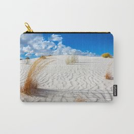Playground - Vibrant Plant Life and Sandy Textures at White Sands New Mexico Carry-All Pouch
