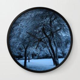 Early Morning Snow, Ravenna Park Wall Clock