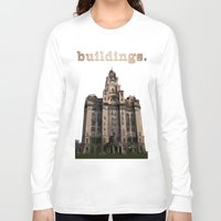 buildings Long Sleeve T-shirts featuring Buildings by Wis Marvin