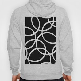 Interlocking White Circles Artistic Design Hoody