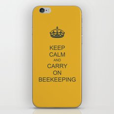 Keep Calm and Carry on Beekeeping iPhone & iPod Skin