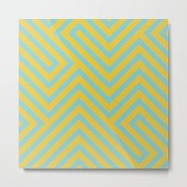 Pastel Labyrinth Metal Print