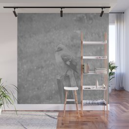 The Bird Light Black and White Wall Mural