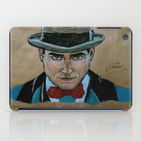 boardwalk empire iPad Cases featuring Arnold Rothstein (Boardwalk Empire) by Bina Leo Dwyer