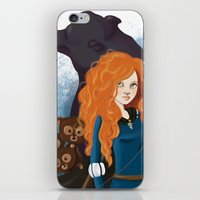 merida iPhone & iPod Skins featuring Merida by Sophie Cappellari