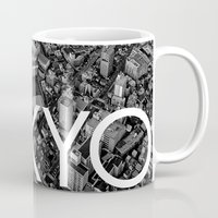 tokyo Mugs featuring TOKYO by Rothko