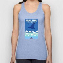 Malibu - California.  Unisex Tank Top