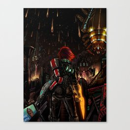 Mass Effect 3 - Shepard Told Us They Were Coming Canvas Print