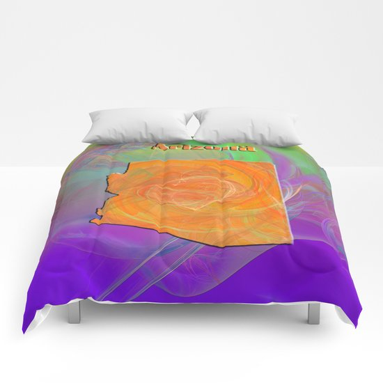 Arizona Map Comforters