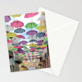 Floating Colorful Umbrellas of Puerto Rico  Stationery Cards