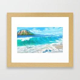 Mermaid's mountain Framed Art Print