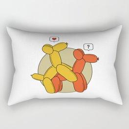 Hot balloon dogs Rectangular Pillow