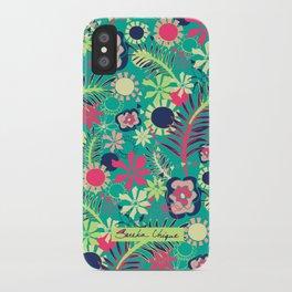 Tropical Flower Fiesta iPhone Case