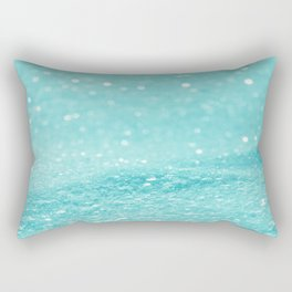 Glitter Turquoise Rectangular Pillow