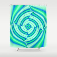blues Shower Curtains featuring Blues by Elena Indolfi