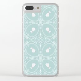 White Rabbits Clear iPhone Case