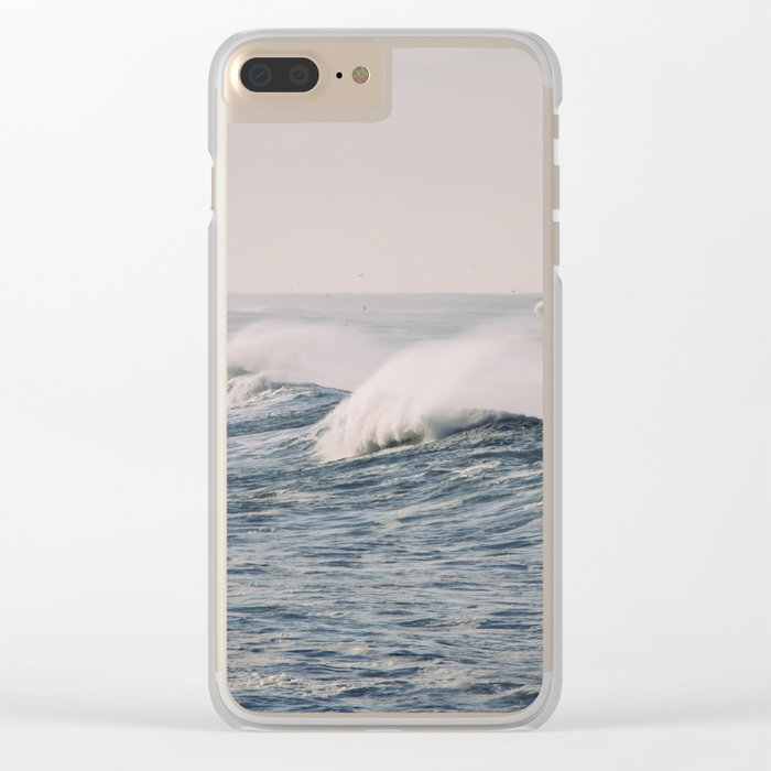 stormy waters Clear iPhone Case
