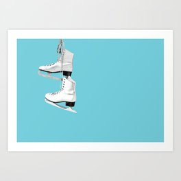 Ice Queen - blue Art Print