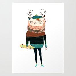 Deer, deer art, deer print, deer illustration, Art Print