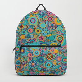 Psychedelic funky Seventies disco party Backpack