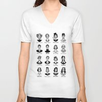 vogue V-neck T-shirts featuring Vogue by EPHEMERAL IMPERFECT