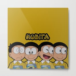 Nobita Moods Metal Print