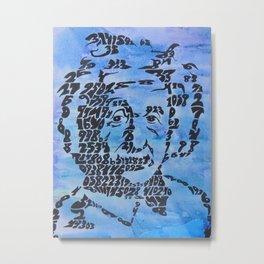 Einstein Pi Portrait Metal Print