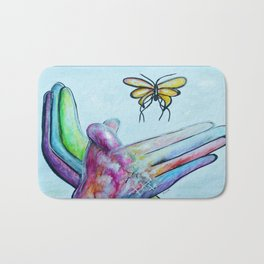 American Sign Language BUTTERFLY Bath Mat
