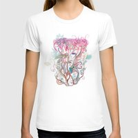 clover T-shirts featuring Floral clover by /CAM