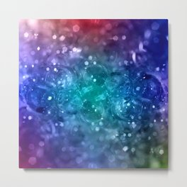 Bubbles in blue Metal Print