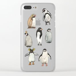 Cute penguins Clear iPhone Case