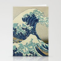 xbox Stationery Cards featuring The Great Wave off Kanagawa by Palazzo Art Gallery