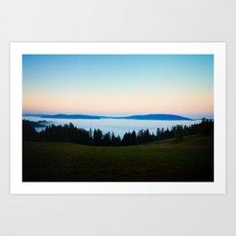 Redwood Creek Valley Sunrise Art Print