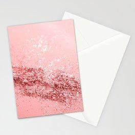 Summer Vibes Glitter #6 #coral #shiny #decor #art #society6 Stationery Cards