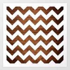 Chevron Wood Art Print