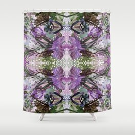 Psychedelic Positive Notes Lavender Zoom Shower Curtain