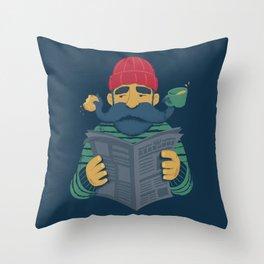 Oh Captain Throw Pillow