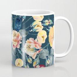 Elegant flower vector rose pattern in classic vintage style for design Coffee Mug