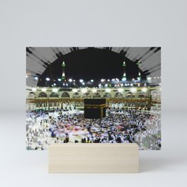 Hajj - Kaaba Stone - Muslim - the ancient sacred stone building towards which Muslims pray Mini Art Print