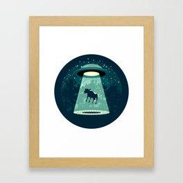 Beware UFO Framed Art Print