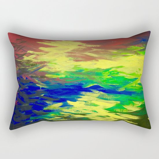 Peacock. Mimosa Inspired Primary Colors. Peacock. Rectangular Pillow